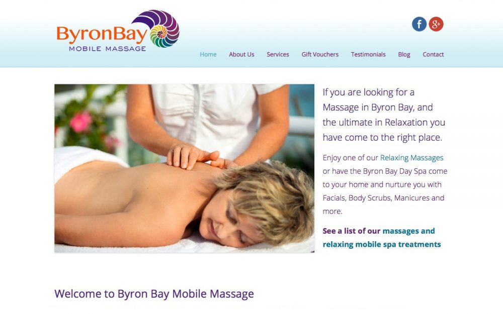 Website Design Byron Bay Mobile Massage