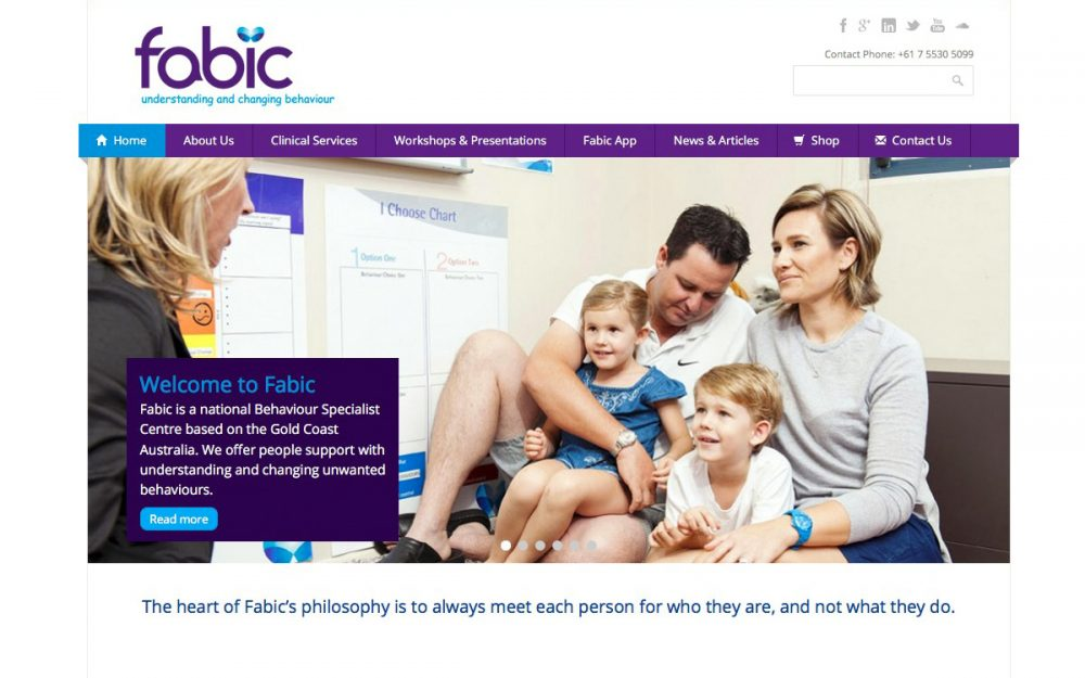 Website Development Gold Coast for Fabic Behaviour Specialist Centre