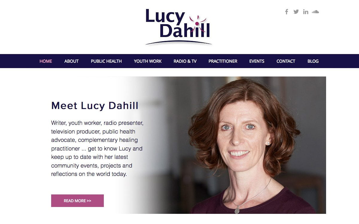 Lucy Dahill Website Design and Development by Evolving Media