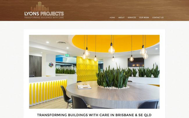 Lyons Projects Commercial Builders Website Development Brisbane