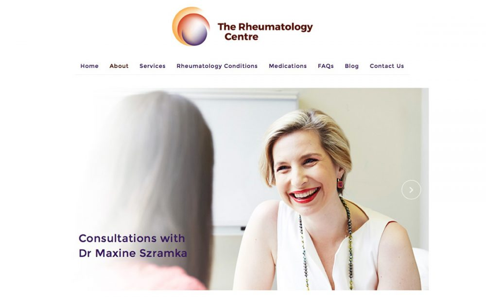 Website Development Lismore for The Rheumatology Centre