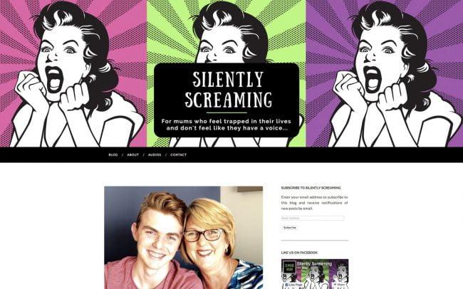 Website Development Brisbane for Silently Screaming Blog