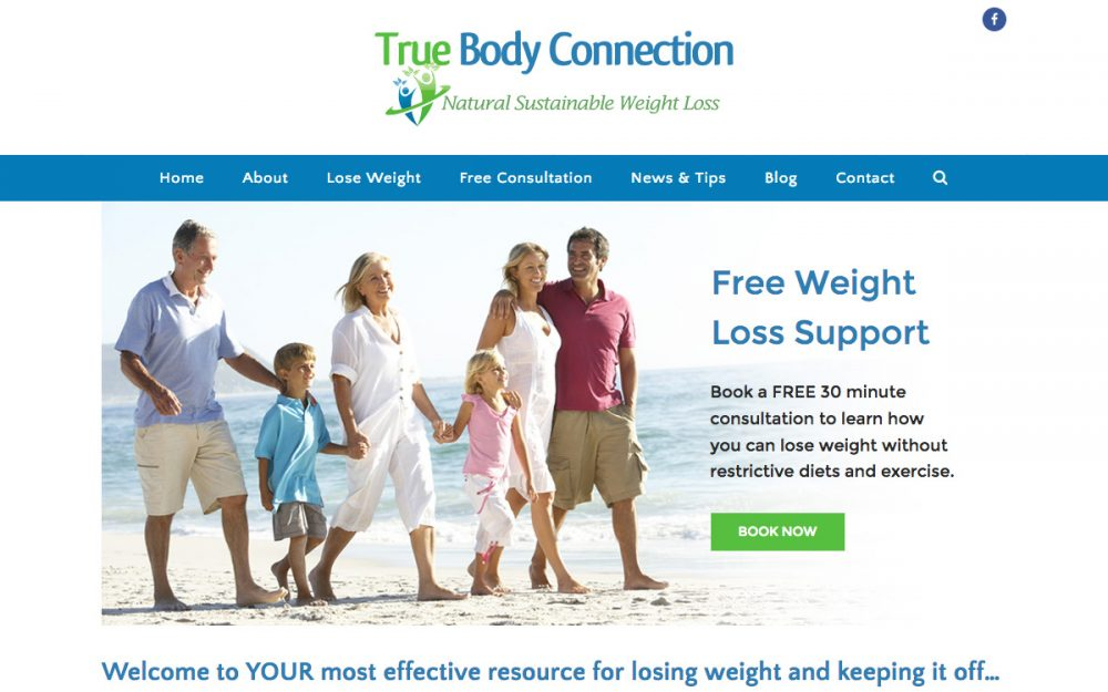 Website Development Lismore for True Body Connection