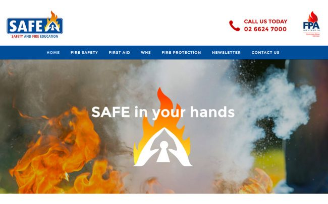 Safety and Fire Education Website Design