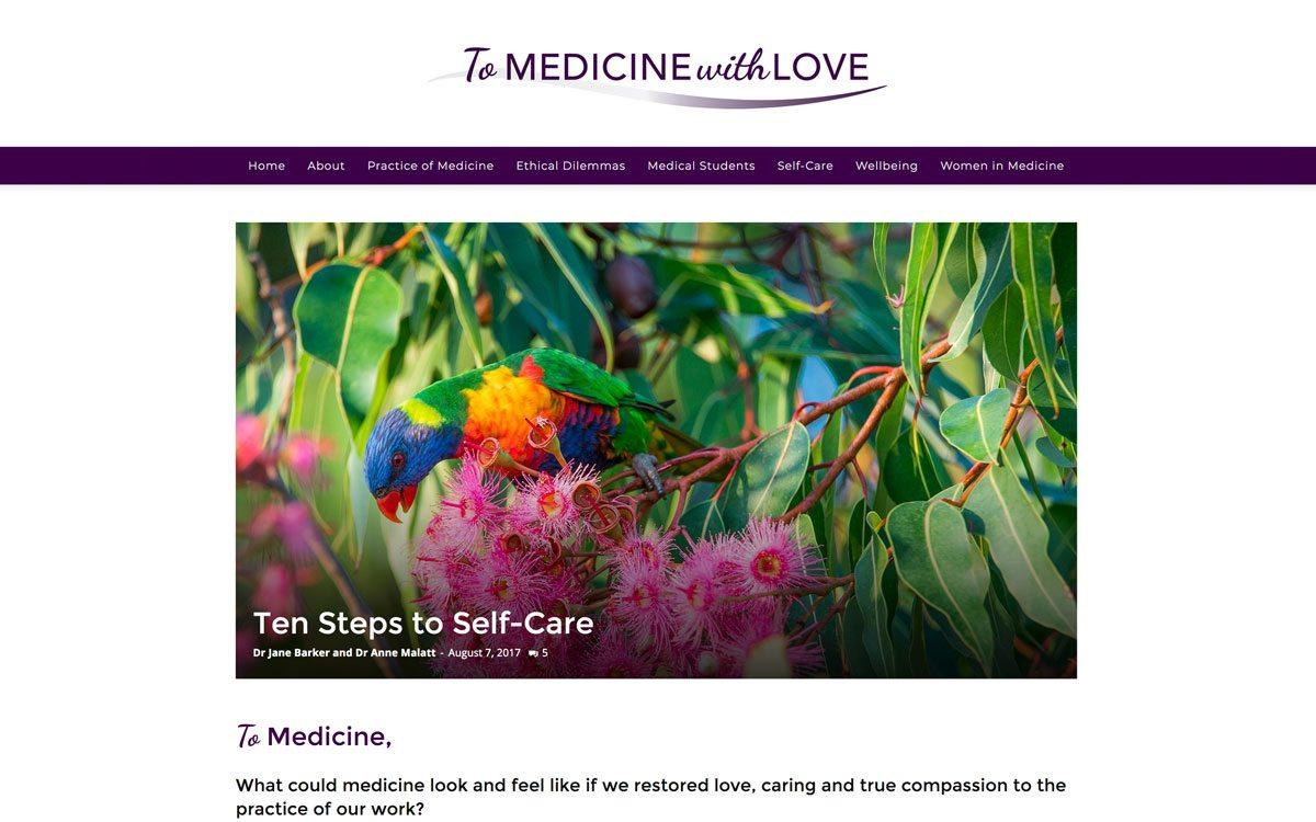 To Medicine with Love Website Design Lismore